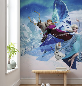 Disney Edition 4 Kinderbehang Komar - Kinderkamer behang Frozen Elsas Magic
