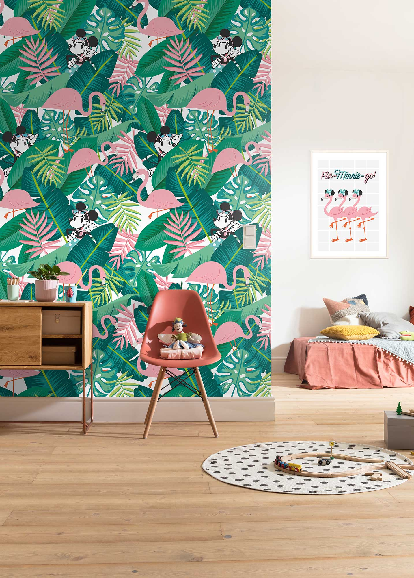 Disney Edition 4 Kinderbehang Komar - Kinderkamer behang Minnie Tropical eingeschweißt
