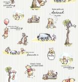 Disney Edition 4 Kinderbehang Komar - Kinderkamer behang Winnie Pooh Stripes eingeschweißt