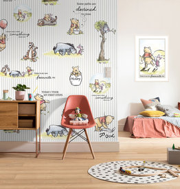 Disney Edition 4 Kinderbehang Komar - Kinderkamer behang Winnie Pooh Stripes eingeschweißt