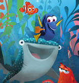 Disney Edition 4 Kinderbehang Komar - Kinderkamer behang Finding Dory Aquarell