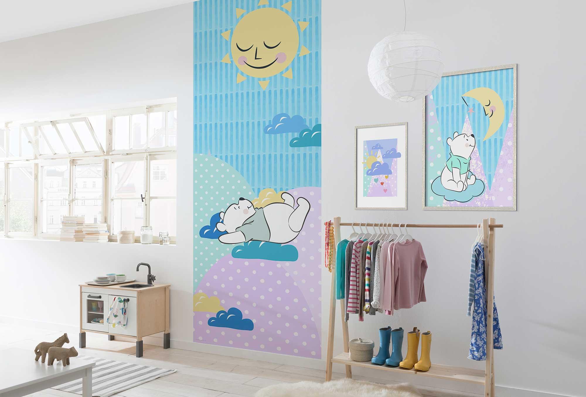Disney Edition 4 Kinderbehang Komar - Kinderkamer behang Winnie Pooh Take a Nap
