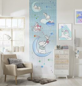 Disney Edition 4 Kinderbehang Komar - Kinderkamer behang Winnie Pooh Piglet and Stars
