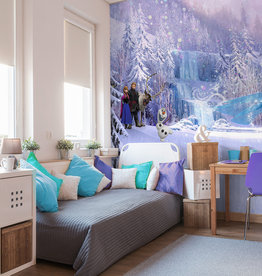 Disney Edition 4 Kinderbehang Komar - Kinderkamer behang  FROZEN FOREST