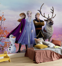 Disney Edition 4 Kinderbehang Komar - Kinderkamer behang FROZEN ICONIC