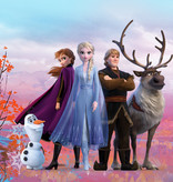 Disney Edition 4 Kinderbehang Komar - Kinderkamer behang FROZEN ICONIC