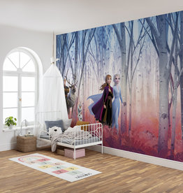 Disney Edition 4 Kinderbehang Komar - Kinderkamer behang FROZEN FRIENDS FOREVER
