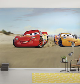 Disney Edition 4 Kinderbehang Komar - Kinderkamer behang CARS BEACH RACE