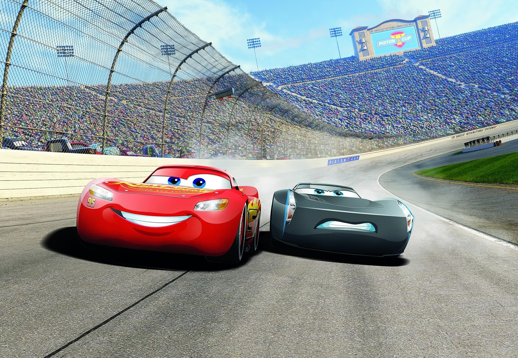 Disney Edition 4 Kinderbehang Komar - Kinderkamer behang CARS3 CURVE