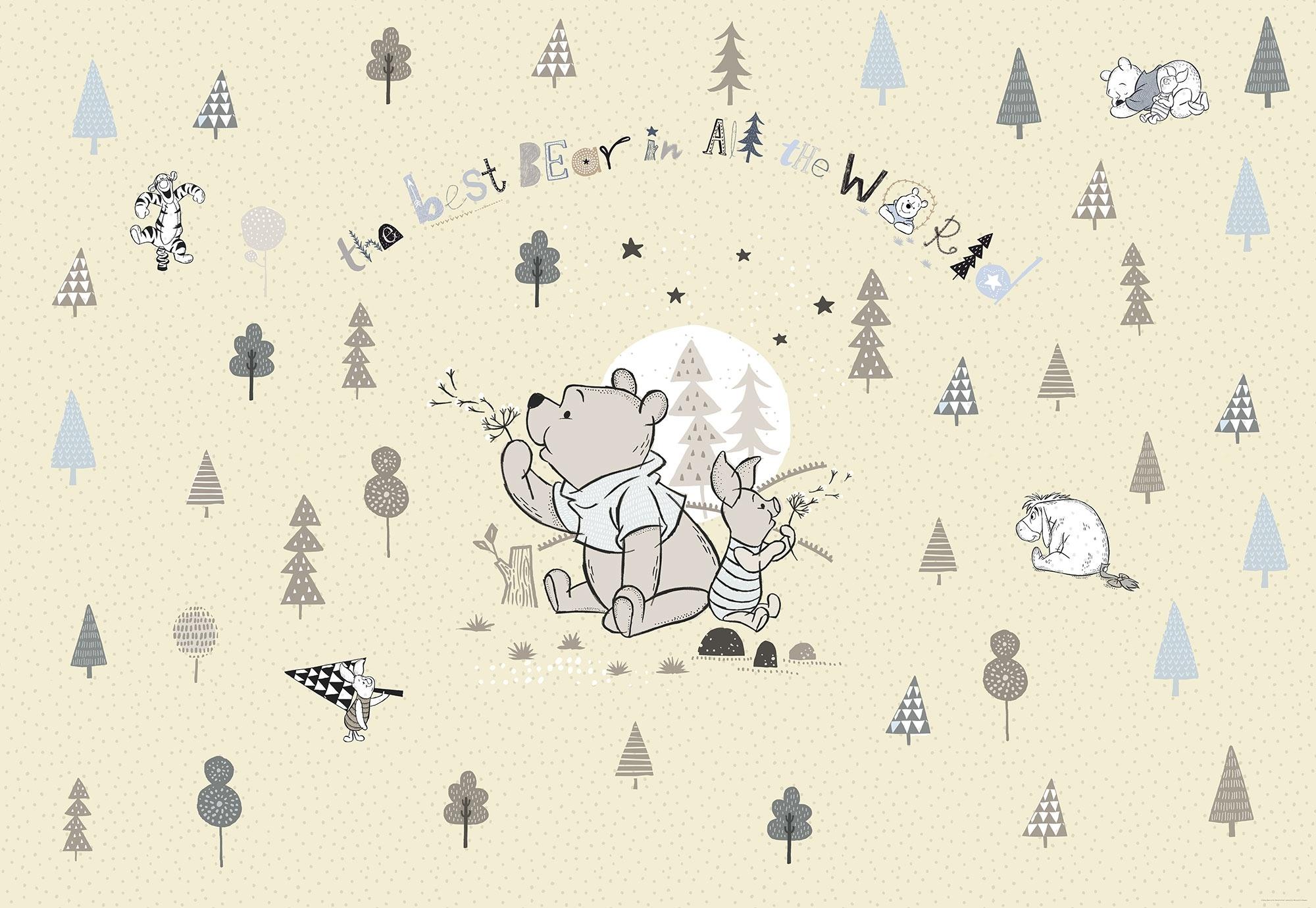 Disney Edition 4 Kinderbehang Komar - Kinderkamer behang WINNIE POOH BEST BEAR