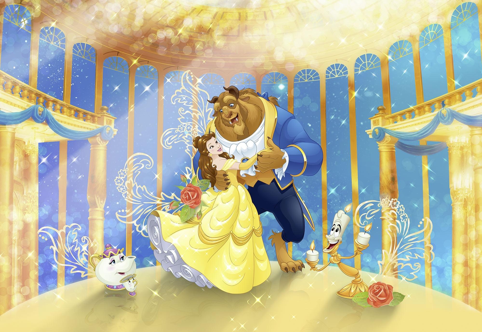 Disney Edition 4 Kinderbehang Komar - Kinderkamer behang BEAUTY AND THE BEAST