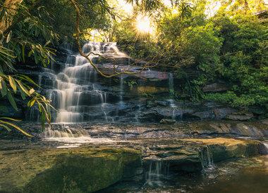 Watervallen behang