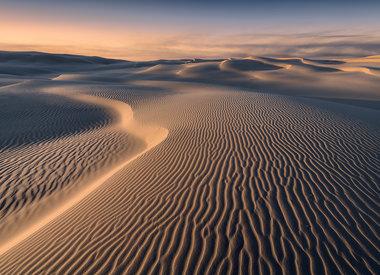 Woestijn behang