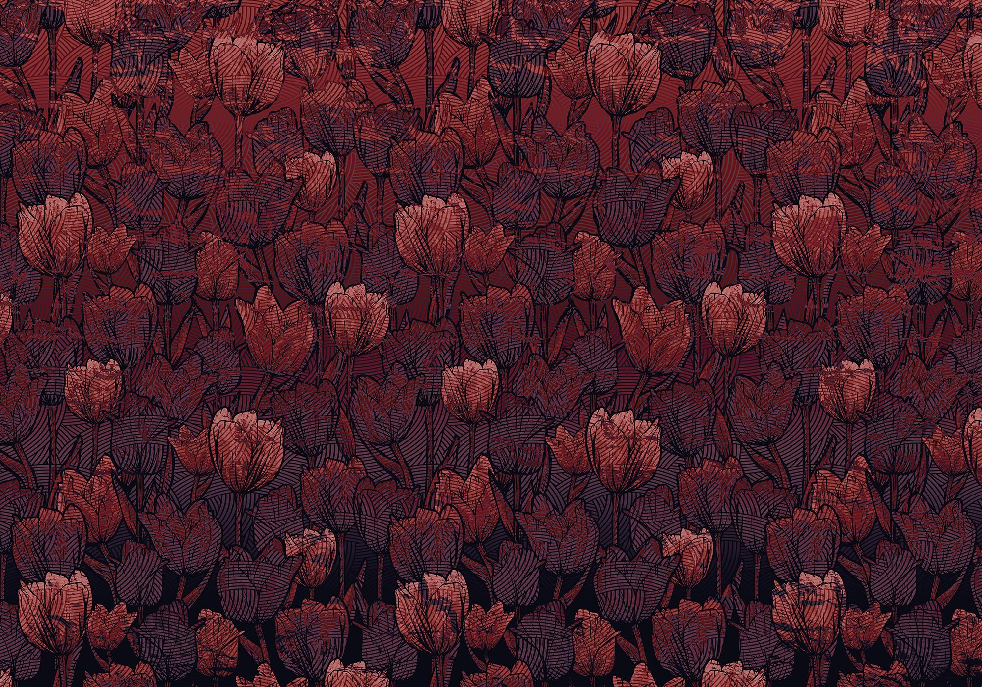 Heritage Edition 1 Fotobehang Komar - Bloemen behang TULIPE