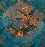 Heritage Edition 1 Fotobehang Komar - Bloemen behang ORIENT BLEU