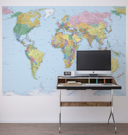 Scenics Edition 2 Fotobehang Komar Wereldkaarten Behang World Map