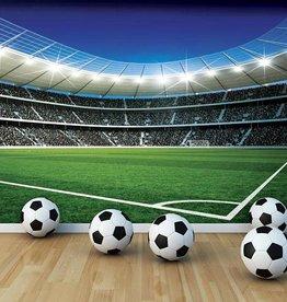 Walltastic Kinderbehang Walltastic XXL - Voetbalstadion corner