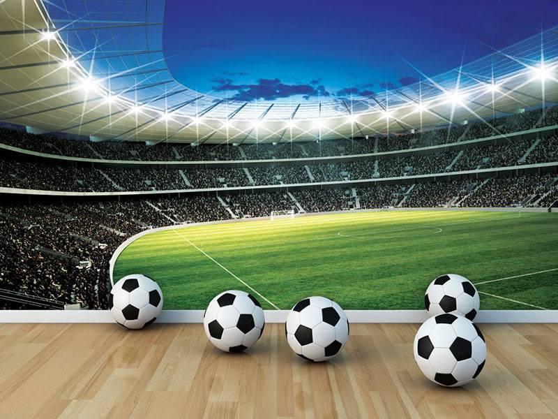 Walltastic Kinderbehang Walltastic XXL - Voetbalstadion rond