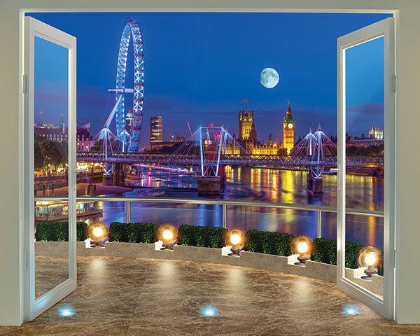 Walltastic Fotobehang Walltastic View Collection XXL - Londen Skyline