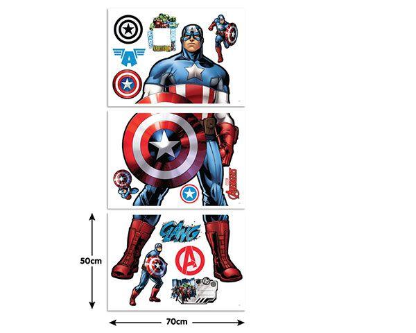 Walltastic Muursticker Kinderkamer Walltastic XXL Captain America