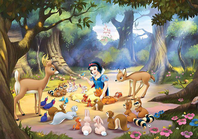 Disney Edition 1 Kinderbehang Walltastic L - Disney Sneeuwwitje