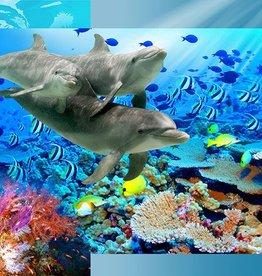 Walltastic Kinderbehang Walltastic L - Dolfijnen
