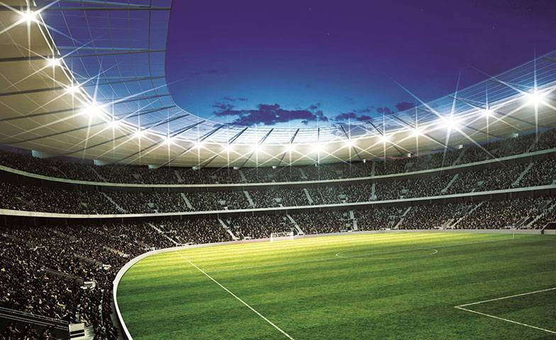 Walltastic Kinderbehang Walltastic L - Voetbal Stadion Rond