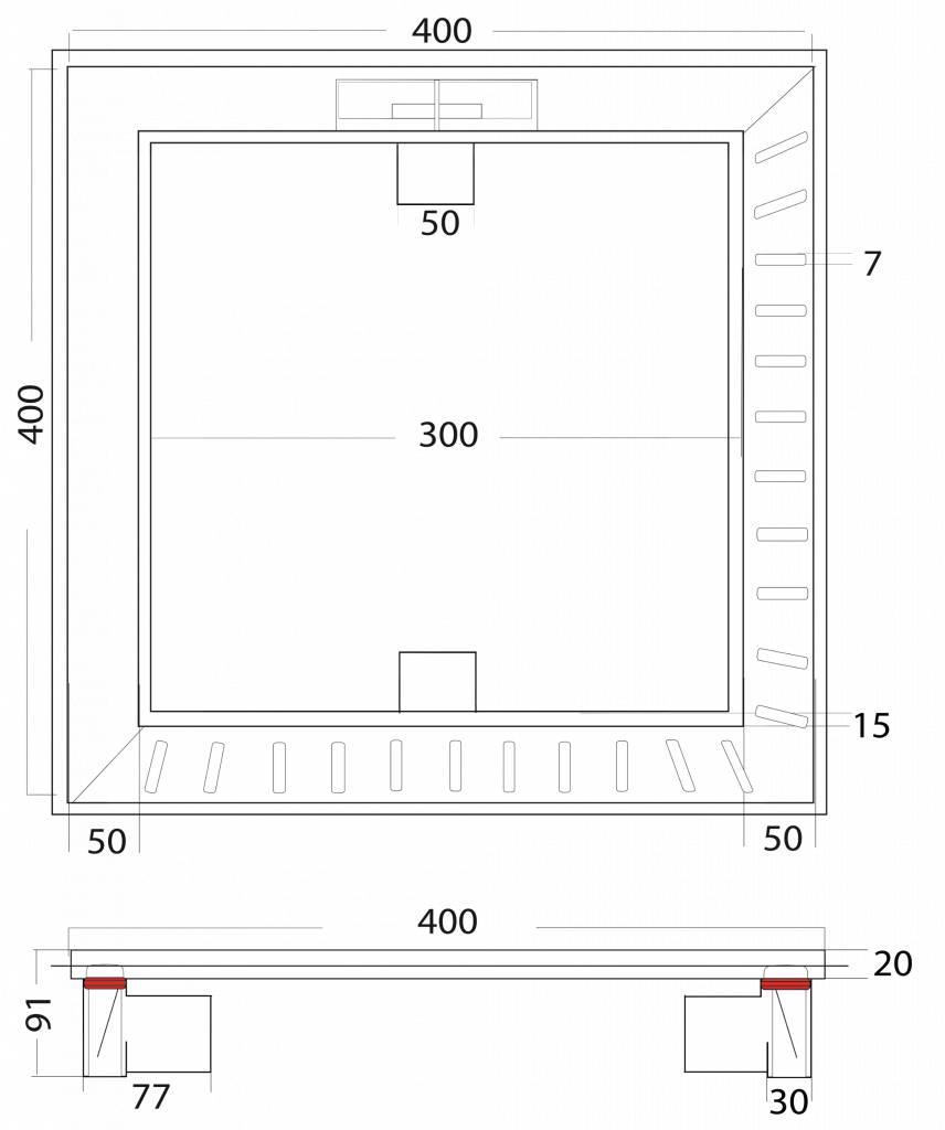 van den Berg Afvoerputten BV Het Element 400 x 400 mm