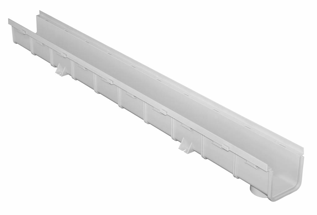 PVC gootdeel 1000 x 100 x 75 mm