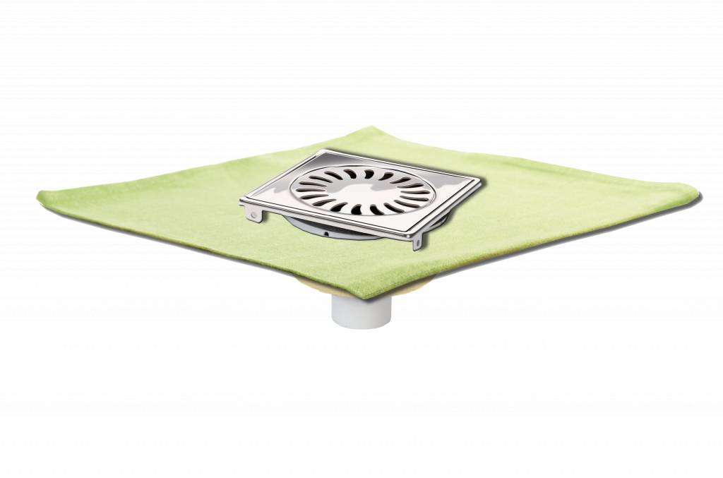 van den Berg Afvoerputten BV Shower drain 146 x 146, with waterproof membrane