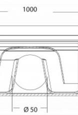 van den Berg Afvoerputten BV ABS plastic shower channels with stainless steel grating