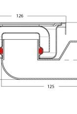 van den Berg Afvoerputten BV Doucheput 126 x 126 mm, 30 mm waterslot