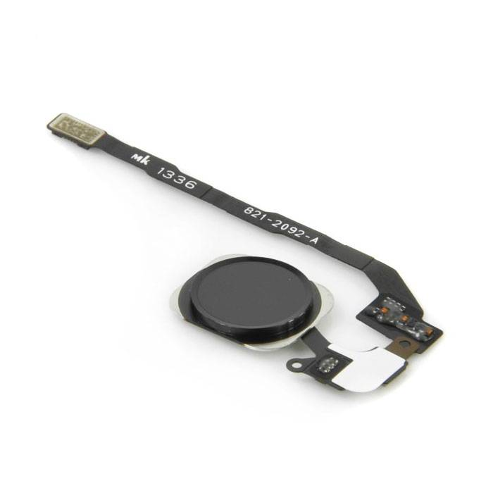 For Apple iPhone 5C - A + Home Button Assembly with Flex Cable Black