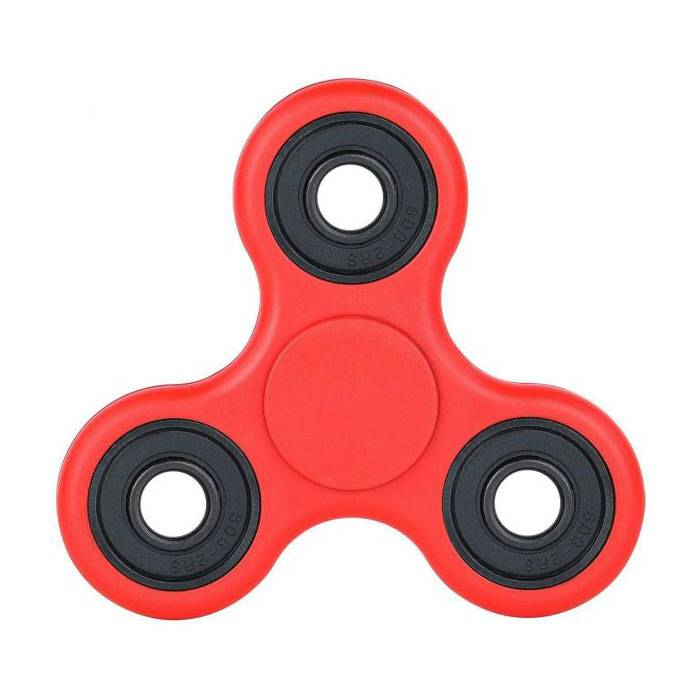Standard Tri Fidget Hand Spinner Anti Stress Shifter Toy Red