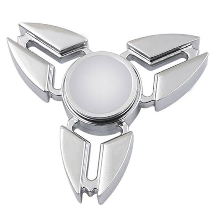Falcon Tri Fidget Hand Spinner Anti Stress Shifter Toy Silver