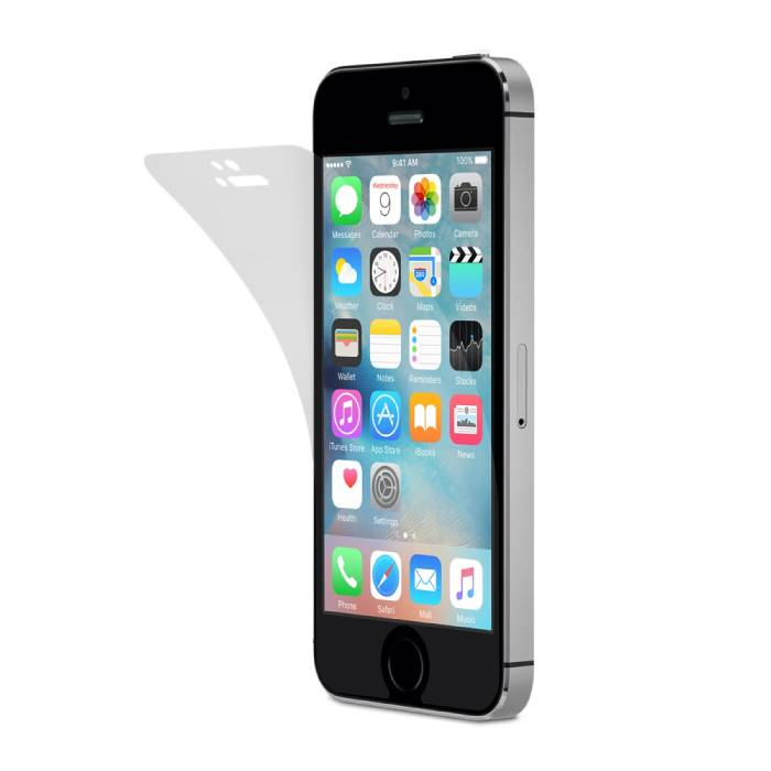 iPhone 5S Screen Protector Strong Foil Film PET Film