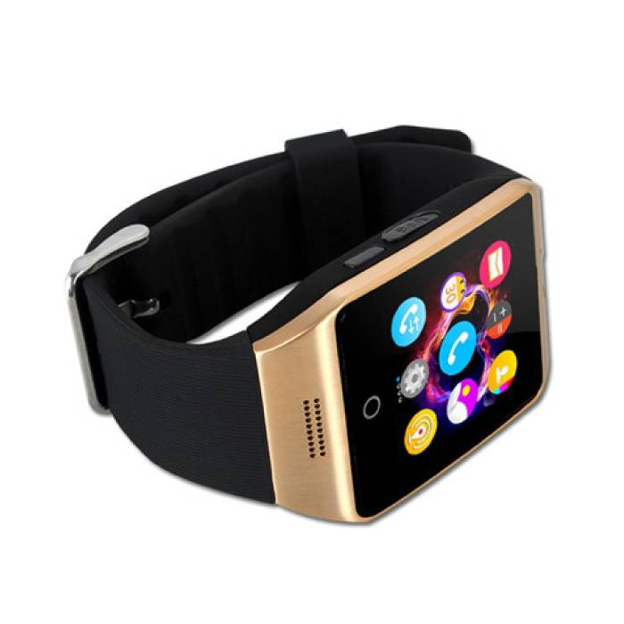 Stuff Certified ® Q18 original SmartWatch HD Curved OLED Smartphone Watch Android iOS Gold