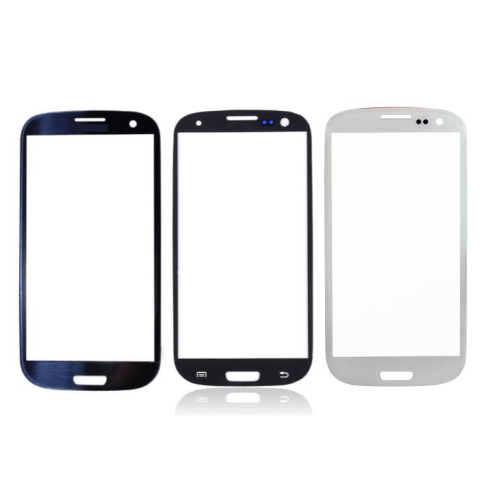 Stuff Certified® Plaque de verre avant en verre avant pour Samsung Galaxy S3 i9300 Qualité AAA + - Noir