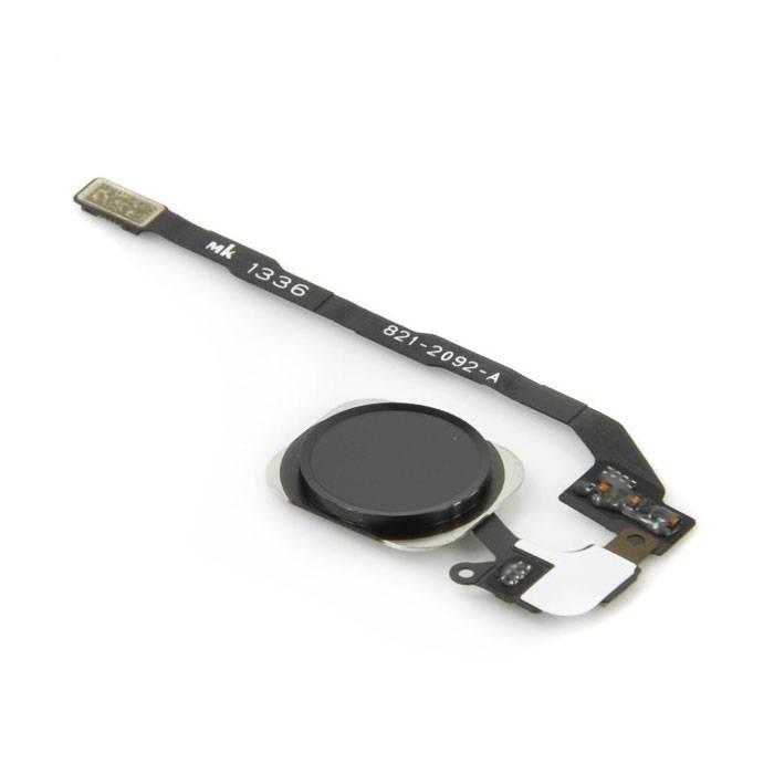 Pour Apple iPhone 5C - Ensemble bouton d'accueil AAA + avec câble flexible noir