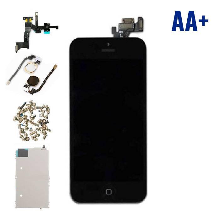 iPhone 5 Voorgemonteerd Scherm (Touchscreen + LCD + Onderdelen) AA+ Kwaliteit - Zwart