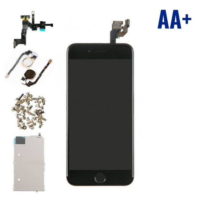 """iPhone 6 4.7 """"Front Mounted Display (LCD + Touch Screen + Parts) AA + Quality - Black"""
