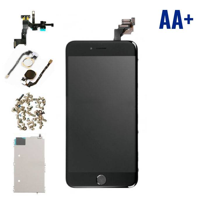 iPhone 6S Plus Front Mounted Display (LCD + Touch Screen + Parts) AA + Quality - Black