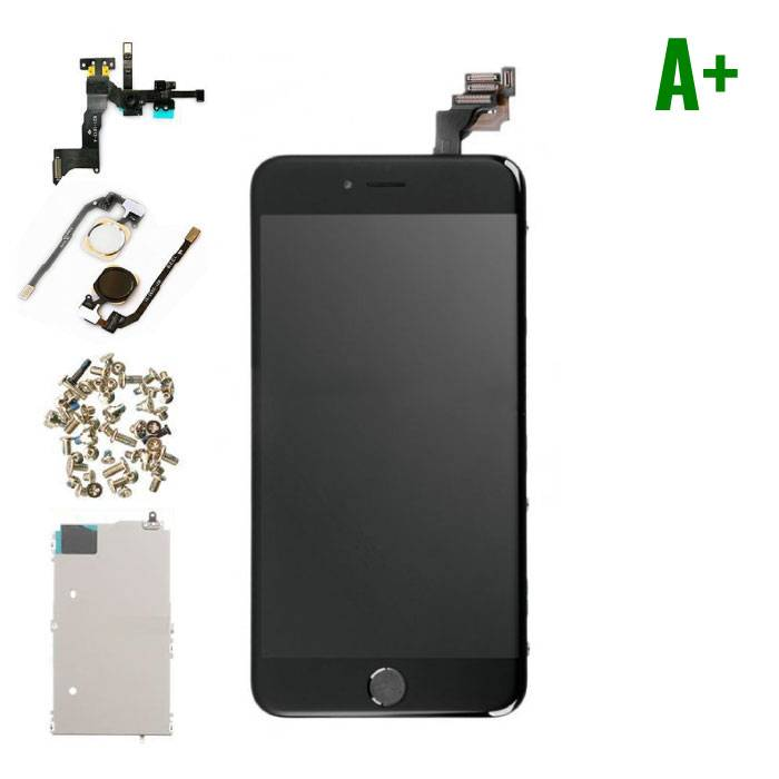 iPhone 6S Plus Front Mounted Display (LCD + Touch Screen + Parts) A + Quality - Black