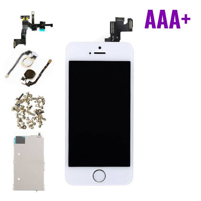 iPhone 5S Front Mounted Display (LCD + Touch Screen + Parts) AAA + Quality - White