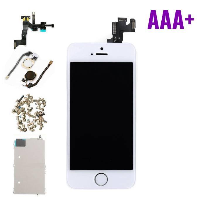 iPhone 5S Voorgemonteerd Scherm (Touchscreen + LCD + Onderdelen) AAA+ Kwaliteit - Wit