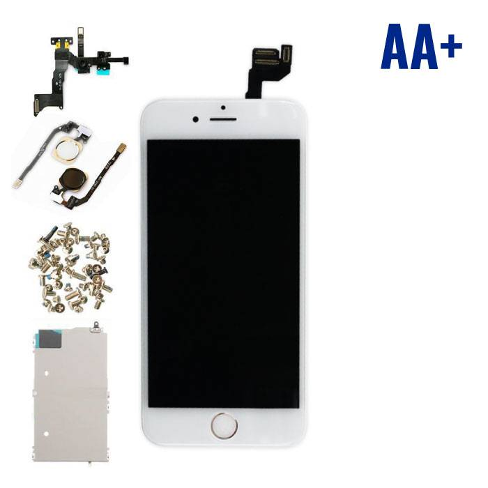 "iPhone 6S 4.7 ""Front Mounted Display (LCD + Touch Screen + Parts) AA + Quality - White"