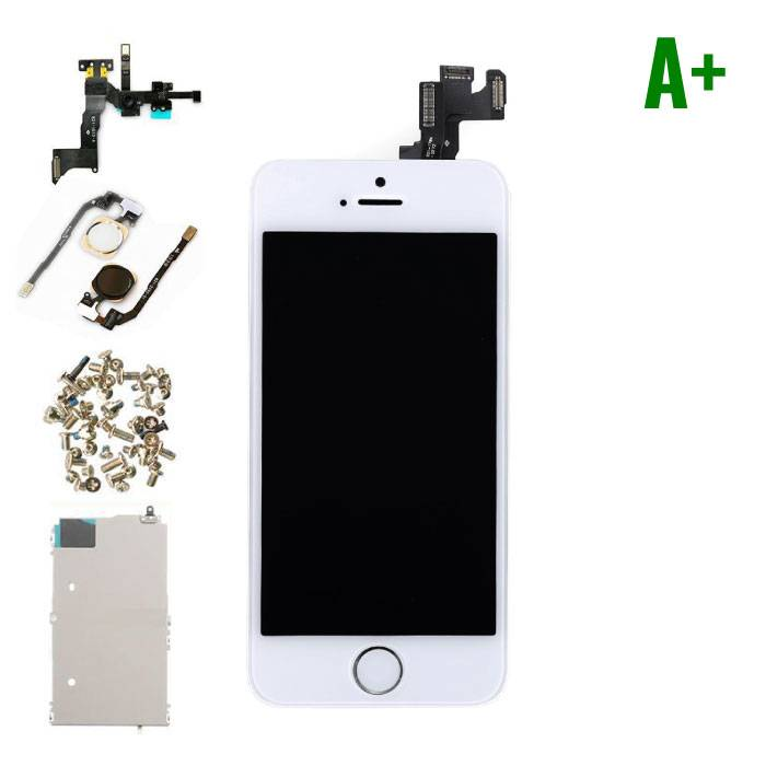 iPhone 5S Front Mounted Display (LCD + Touch Screen + Parts) A + Quality - White