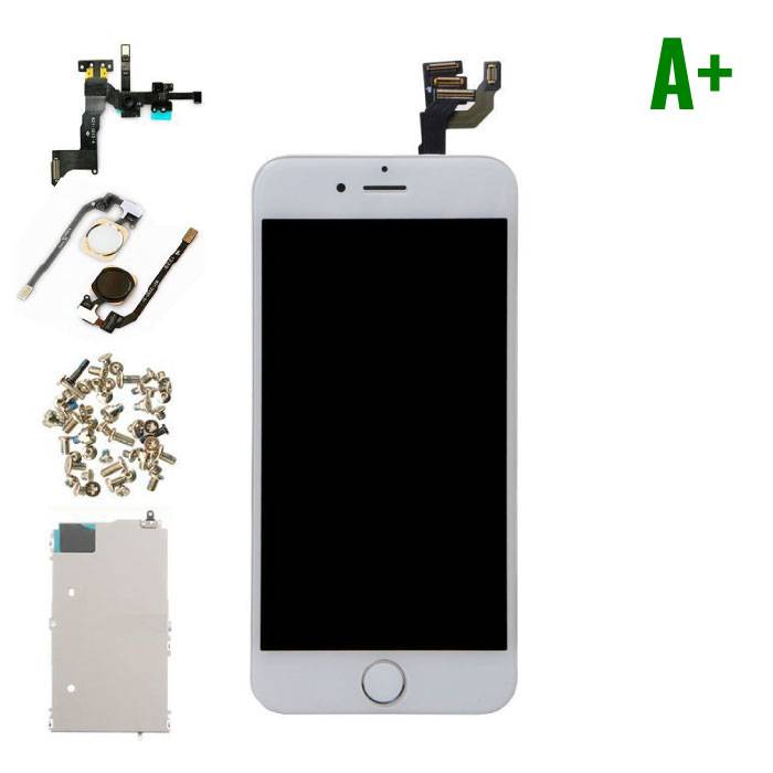 """iPhone 6 4.7 """"Front Mounted Display (LCD + Touch Screen + Parts) A + Quality - White"""