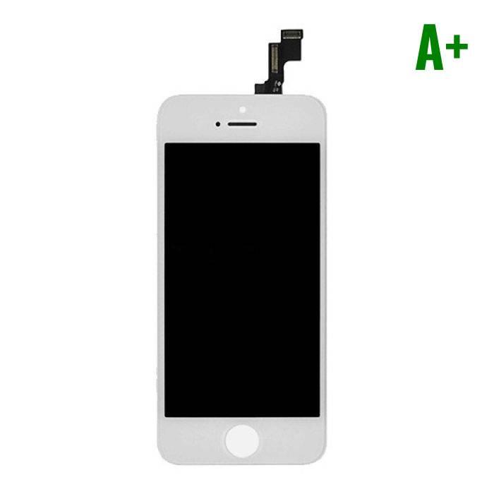 iPhone SE/5S Scherm (Touchscreen + LCD + Onderdelen) A+ Kwaliteit - Wit