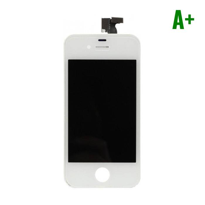 iPhone 4 Scherm (Touchscreen + LCD + Onderdelen) A+ Kwaliteit - Wit